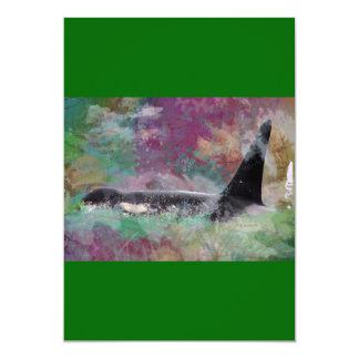 Orca Whale Orcinus Cloud Fantasy Card