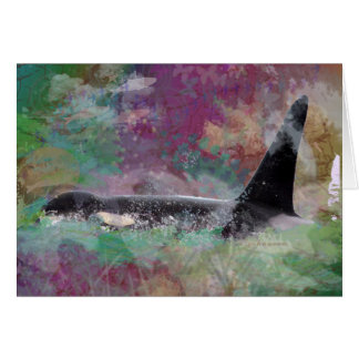 Orca Whale Orcinus Cloud Fantasy Card