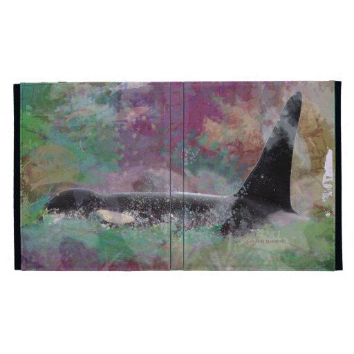 Orca Whale Orcinus Cloud Fantasy iPad Folio Cases