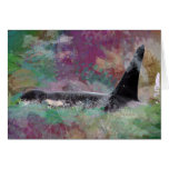 Orca Whale Orcinus Cloud Fantasy Greeting Card