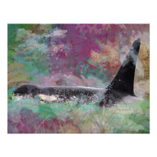 Orca Whale Orcinus Cloud Fantasy Custom Invitations