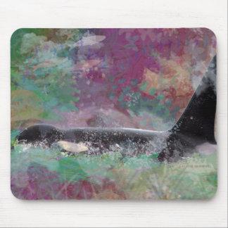 Orca Whale Orcinus Cloud Fantasy Mouse Pad