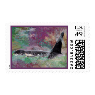 Orca Whale Orcinus Cloud Fantasy Postage