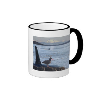 Orca Whale, Oyster Catcher Cascades Montage Coffee Mug