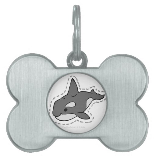 ORCA_WHALE PET NAME TAG