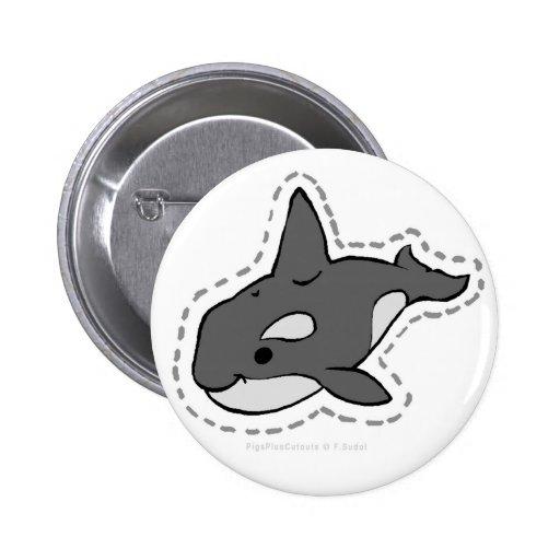 ORCA_WHALE PINBACK BUTTON