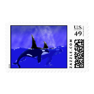 Orca Whale Postage Stamps