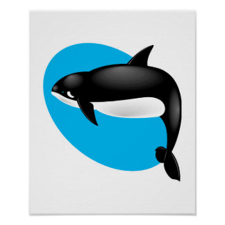 orca whale poster