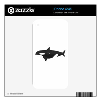 Orca Whale Primitive Style iPhone 4 Decals