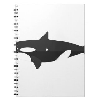 Orca Whale Primitive Style Notebook
