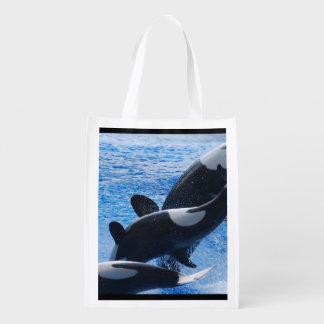 Orca Whale Reusable Grocery Bag