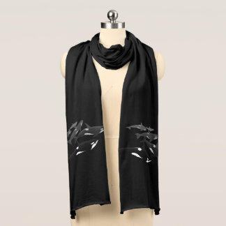 Orca Whale Scarf Killer Whale Art Scarves Gifts