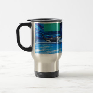 Orca Whale Showing Off 15 Oz Stainless Steel Travel Mug