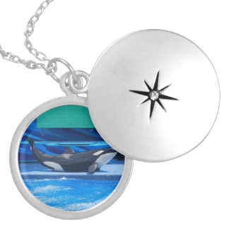 Orca Whale Showing Off Custom Necklace