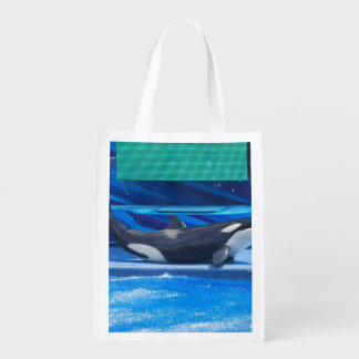 Orca Whale Showing Off Grocery Bag
