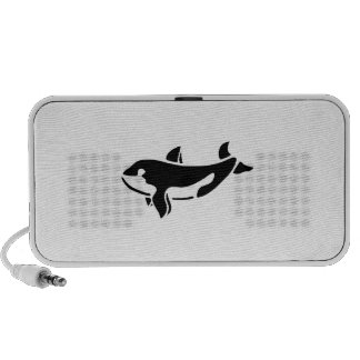 Orca Whale Silhouette Travel Speakers