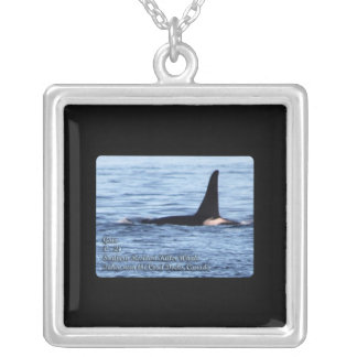 Orca Whale: Southern Resident Killer Whale Postage Silver Plated Necklace