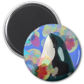 Orca Whale Spy Hop Multicolor Graphic-I SEE You Magnet