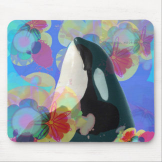 Orca Whale Spy Hop Multicolor Graphic-I SEE You Mouse Pad