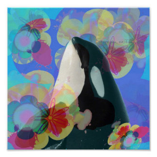 Orca Whale Spy Hop Multicolor Graphic-I SEE You Posters