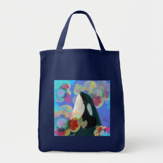Orca Whale Spy Hop Multicolor Graphic-I SEE You Tote Bag