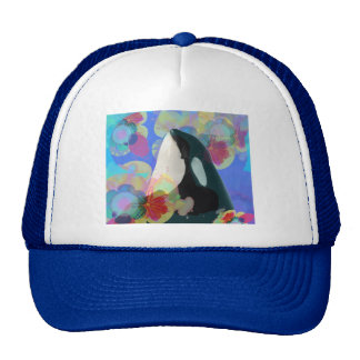 Orca Whale Spy Hop Multicolor Graphic-I SEE You Trucker Hat