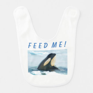 Orca Whale Spyhop blue Baby Bib