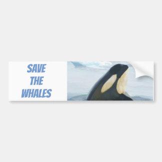 Orca Whale Spyhop blue Bumper Sticker