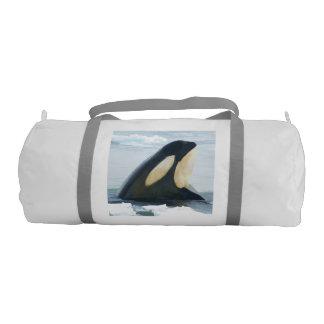 Orca Whale Spyhop blue Duffle Bag