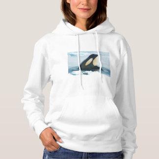 Orca Whale Spyhop blue Hoodie