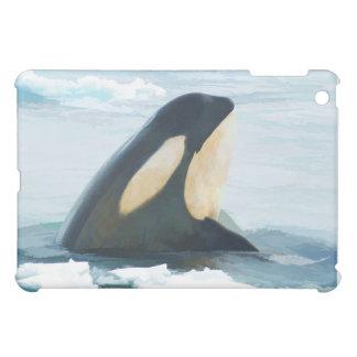 Orca Whale Spyhop blue iPad Mini Covers