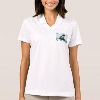 Orca Whale Spyhop blue Polo Shirt