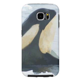 Orca Whale Spyhop blue Samsung Galaxy S6 Case
