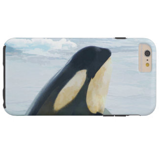 Orca Whale Spyhop blue Tough iPhone 6 Plus Case