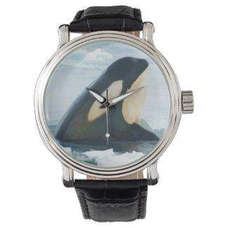 Orca Whale Spyhop blue Watch
