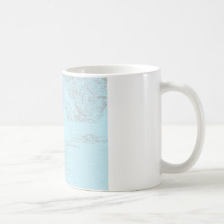 Orca Whale Swimming Drawing Turquoise Lavender Mugs