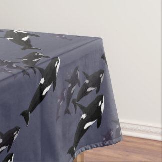 Orca Whale Tablecloth Killer Whale Art Tablecloth