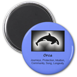 Orca Whale Totem Animal Spirit Meaning 2 Inch Round Magnet