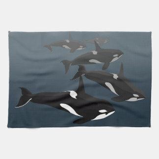 Orca Whale Towel Killer Whale Dish Towels & Decor