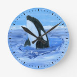Orca whale Wall Clock
