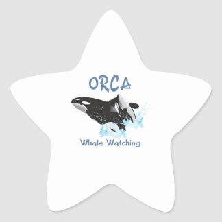 ORCA Whale Watching Star Stickers