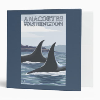 Orca Whales #1 - Anacortes, Washington 3 Ring Binder