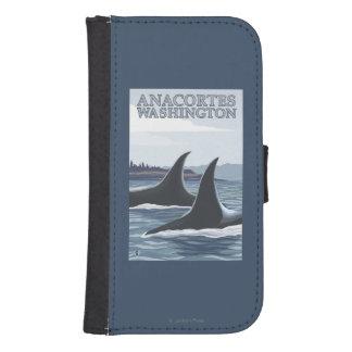 Orca Whales #1 - Anacortes, Washington Galaxy S4 Wallet Cases
