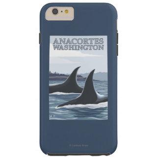Orca Whales #1 - Anacortes, Washington Tough iPhone 6 Plus Case