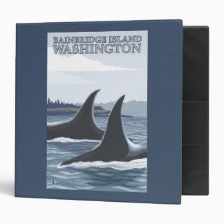 Orca Whales #1 - Bainbridge Island, Washington Binder