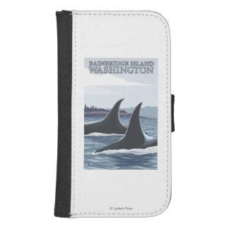 Orca Whales #1 - Bainbridge Island, Washington Phone Wallet