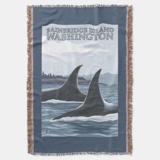 Orca Whales #1 - Bainbridge Island, Washington Throw