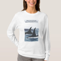 Orca Whales #1 - Bellingham, Washington T-Shirt
