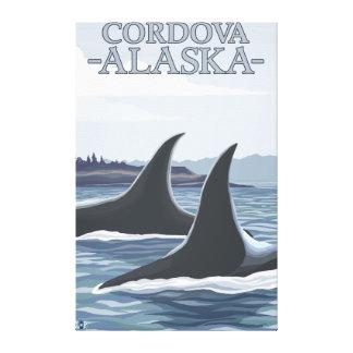 Orca Whales #1 - Cordova, Alaska Gallery Wrapped Canvas