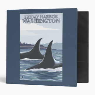Orca Whales #1 - Friday Harbor, Washington Binder